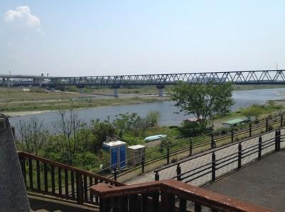 B-1会場となった河川敷