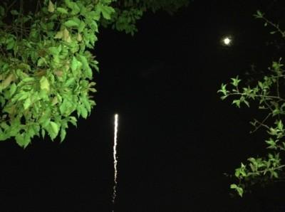 丁度良く月も出ていた