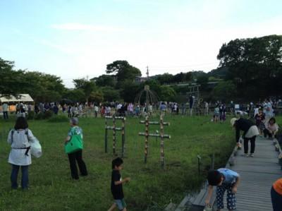 「中井」の竹灯籠