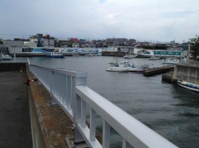 相模川河口にある平塚須賀港