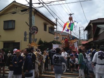 神輿と山車の共演