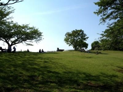 頂上の芝生広場